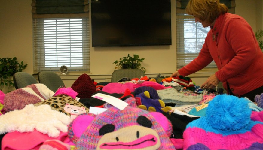 The Sixth Annual Hat and Mitten Drive is underway.