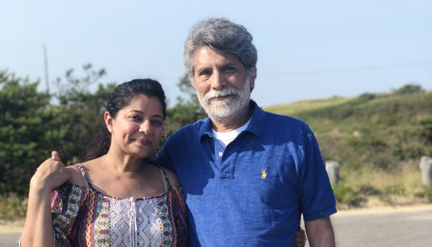 Chemistry Coordinator Hirul Patel and Professor Dr. Dilip Patel
