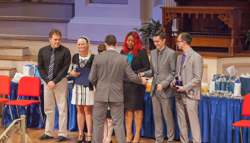 Students at Honors and Awards Ceremony