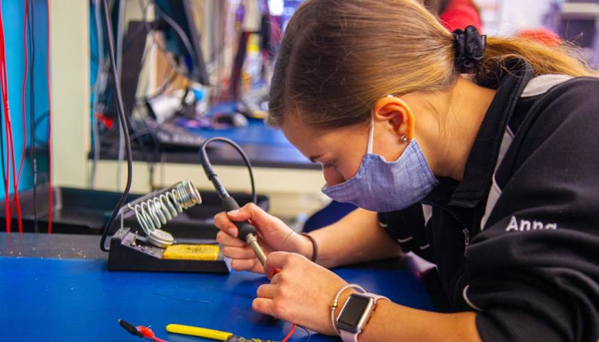 Hands-on learning is an important part of the educational experience at QCC.