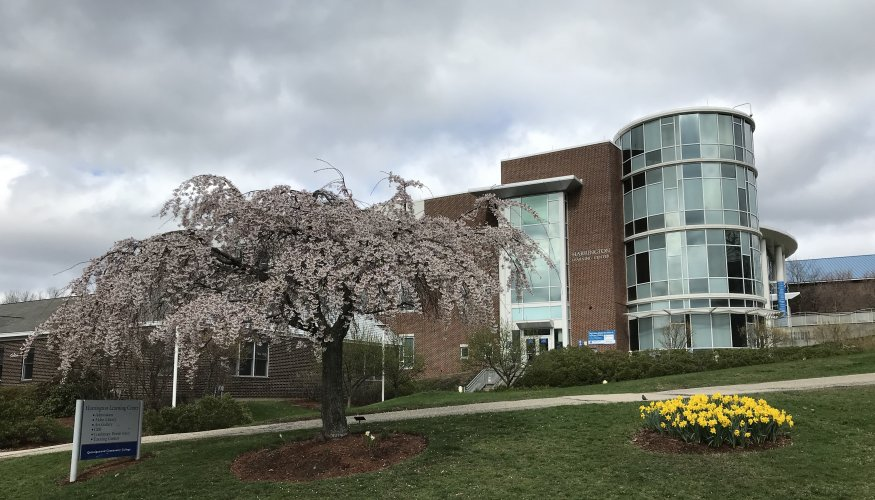 April showers bring May flowers at Quinsigamond Community College.