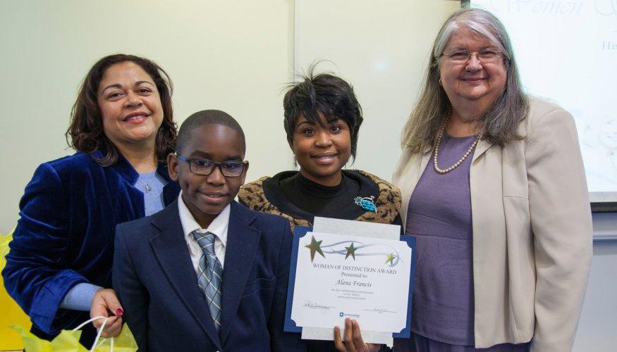 student receives Women of Distinction award