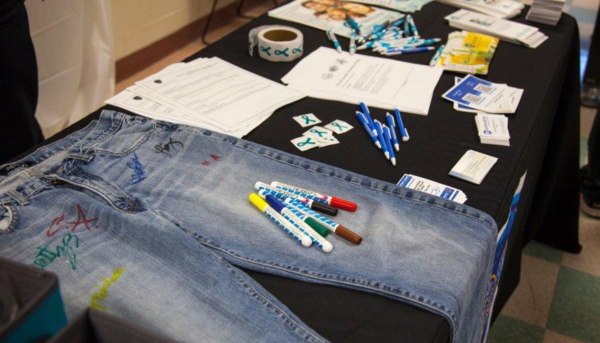 Denim Day signed jeans