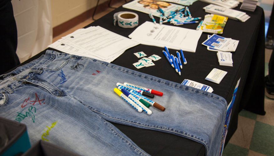 Denim Day signed jeans