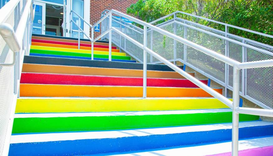 The new Harrington Learning Center Diversity Steps.
