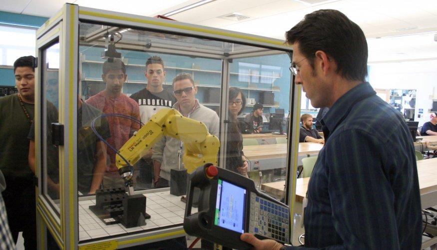 Manufacturing professor demonstrates hardware