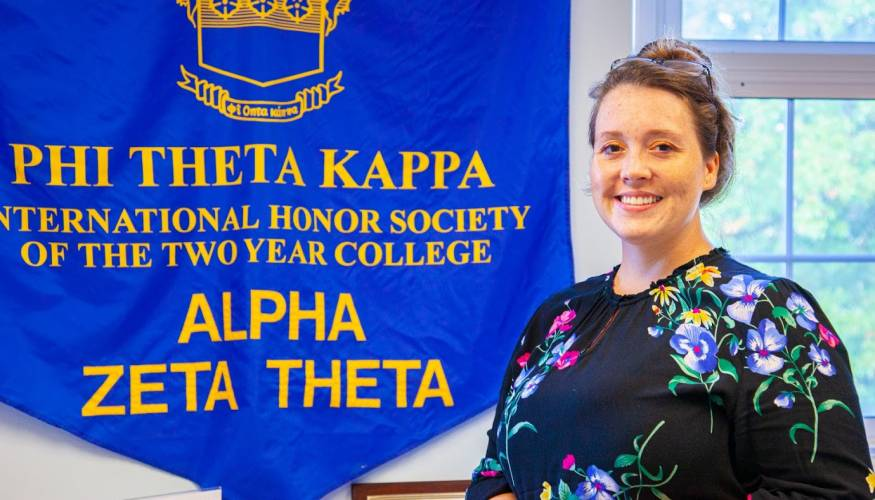 Quinsigamond Community College student and Phit Theta Kappa President Tabitha Leber