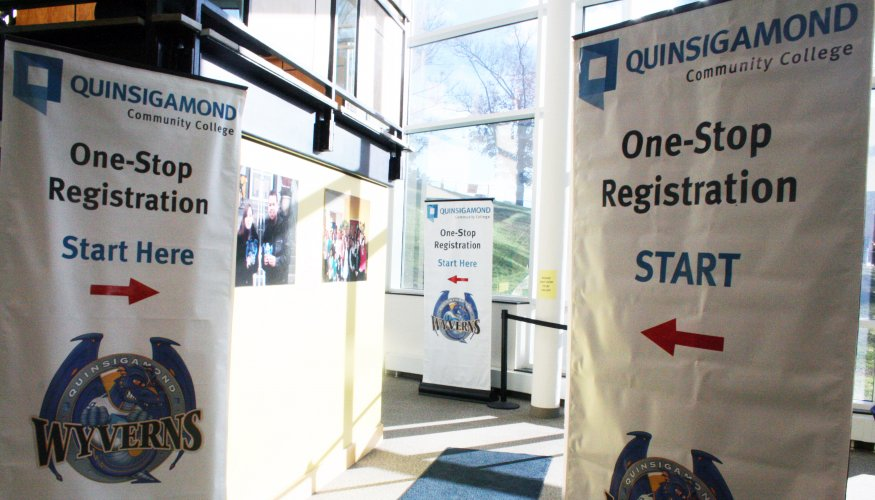 One stop registration banners