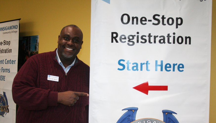 One stop registration banner
