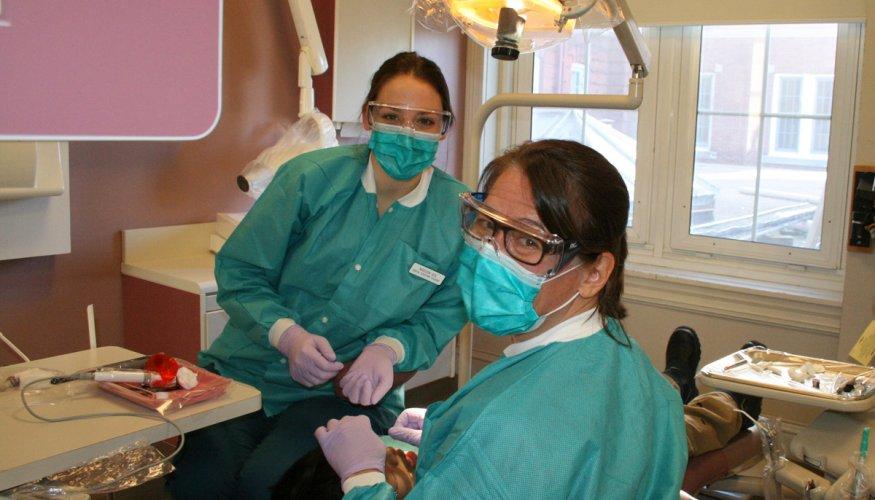 QCC dental students