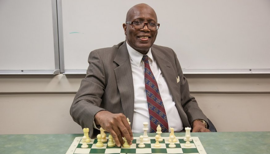 QCC's Chess Club Advisor and zealous chess player, Jerry Williams.