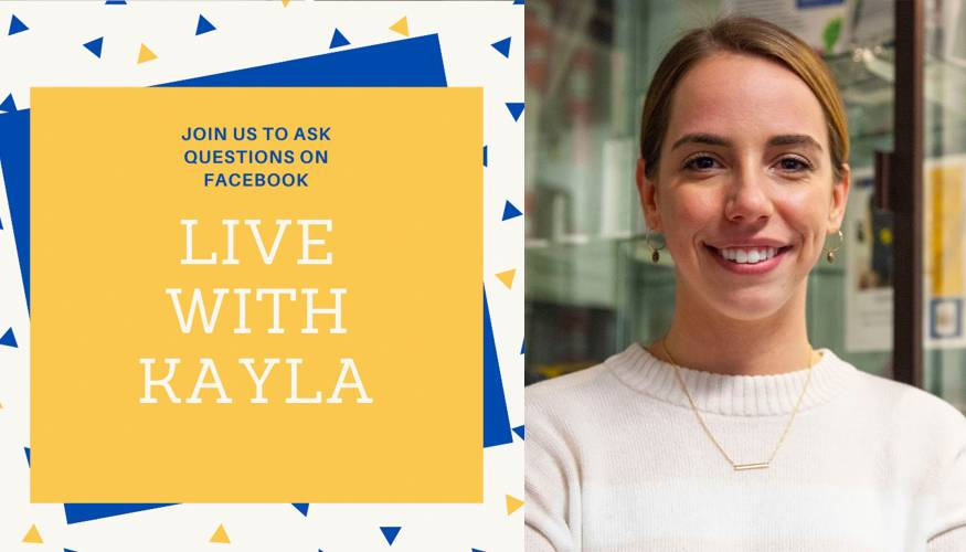 QCC Alumna Kayla Paterson hosts a Facebook Live program for PTK members to stay engaged and informed.