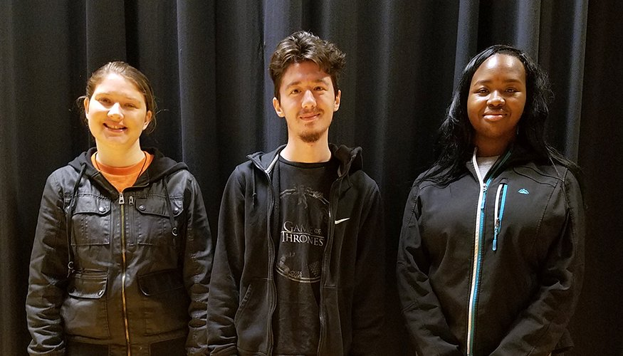 Some QCC students who participated in the Kennedy Center American College Theater Festival included: Lola Balogun, Kyler Simard and Alexis Guertin.