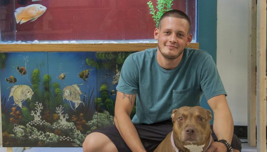 Dylan Marengo is a 2014 Gateway to College graduate and owner of Lucky's Aquarium in Worcester.
