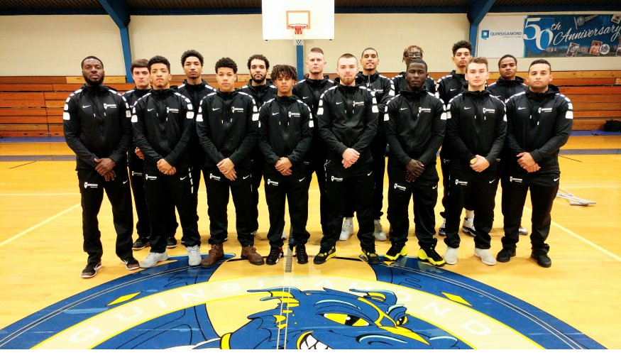 The 2017 QCC Men's Basketball Team.