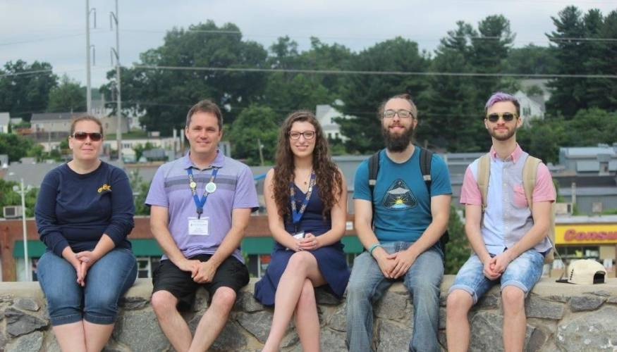 Former PTK officers (L to R): Mary Sylvester, Tony Sanders, Maia Shalev, Mark Hogan and Kyle Mondino.