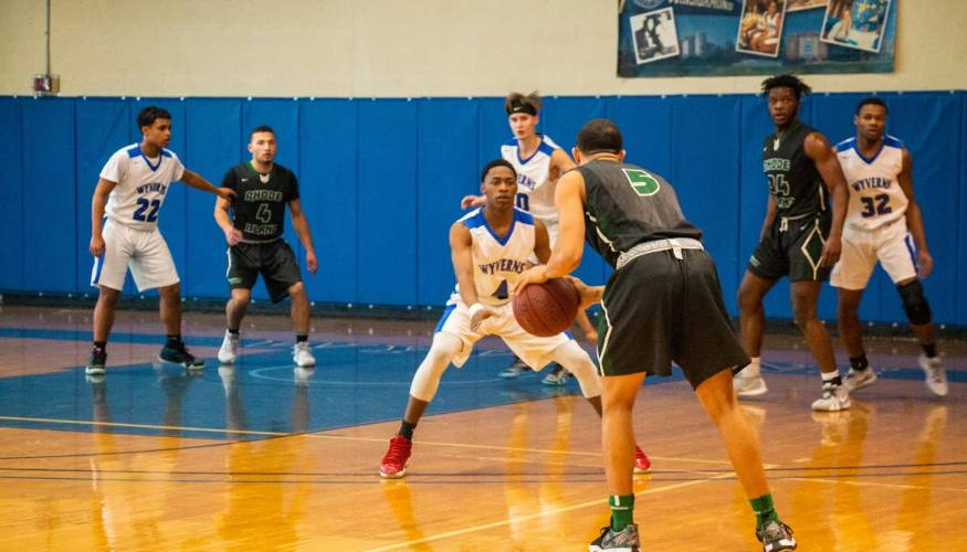 QCC's Wyverns took on Rhode Island Community College on Feb. 2.