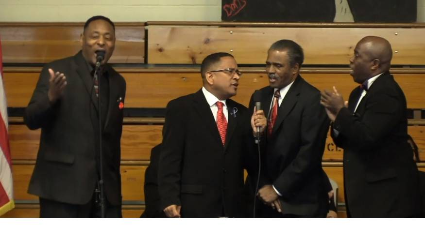 Joyful singing was a part of the MLK Worcester County Community Breakfast.