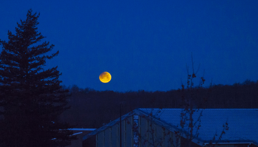 Moon over QCC.