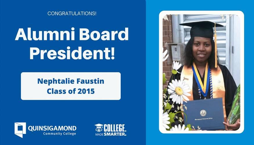 Nephtalie Faustin, Alumni Board President