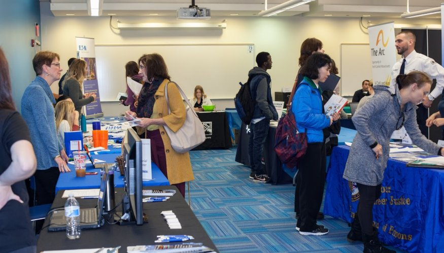 QCC's Job Fair  offered many employment opportunities for students.