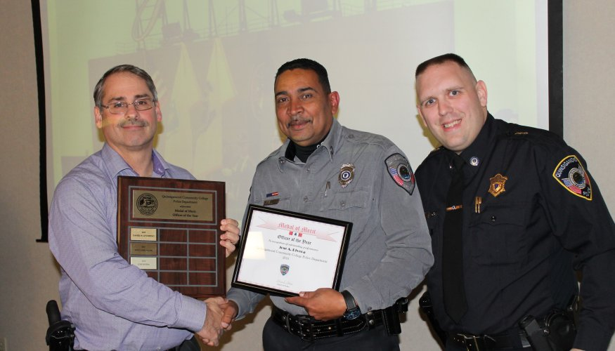 Jose Rivera receives the Officer of the Year Award