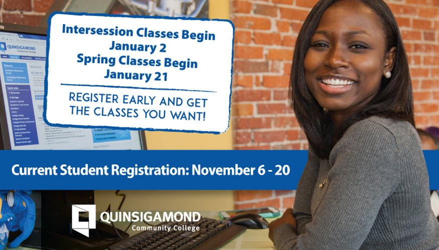 Current Student Registration begins November 6.