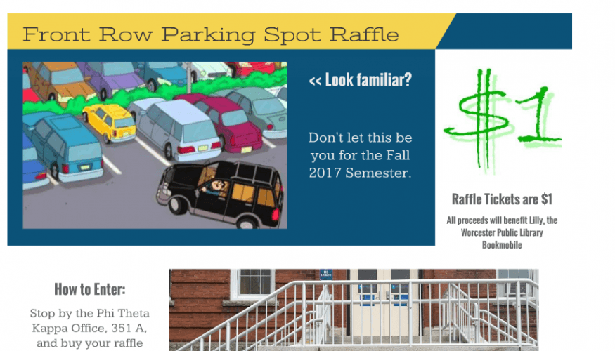 PTK is offering a raffle for a chance to win a front row parking spot.