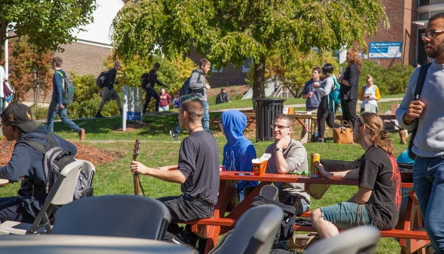 students at Fall Festival