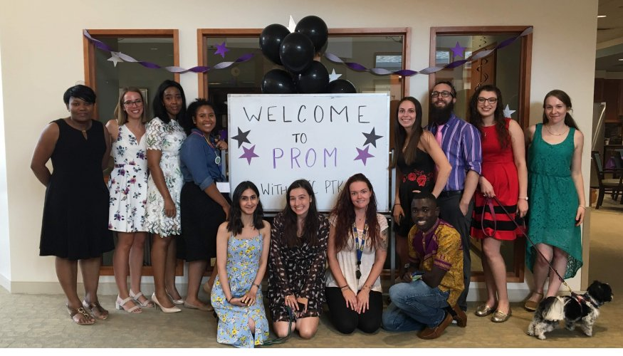 QCC's PTK Alpha Theta students host a senior prom for the residents of Oasis at Dodge Park.