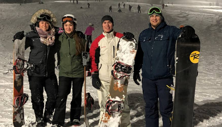 QCC Veterans Club members take to the slopes on Wednesday evenings at Mount Wachusett.