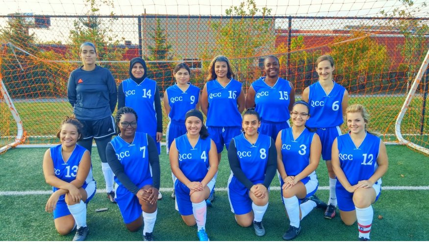 2016 QCC Women's Soccer Team.