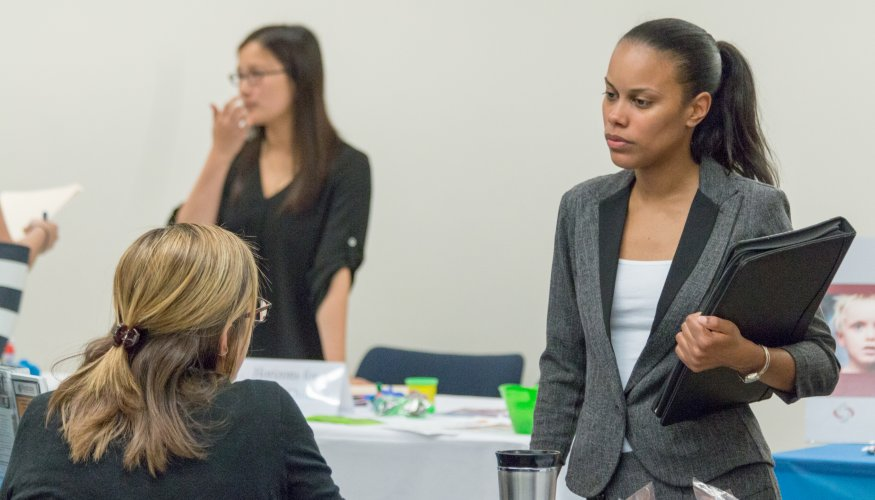 Learn how to make a positive impression during an interview at QCC's Workplace Etiquette Luncheon.