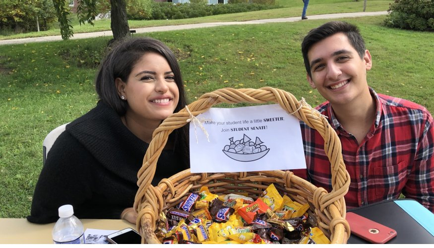 QCC Students try to sweeten the pot and get students to join the Student Senate