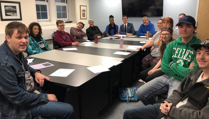 QCC Student Government Association meeting that President Pedraja presided over.