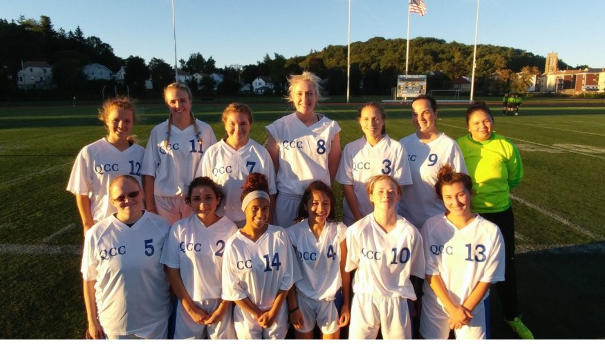QCC's 2017 Women's Soccer team.