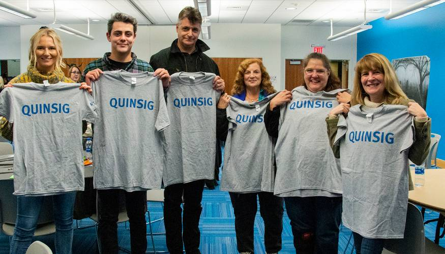 """The team of """"Stumbling Forward"""" came from last to first and won the trivia contest."""