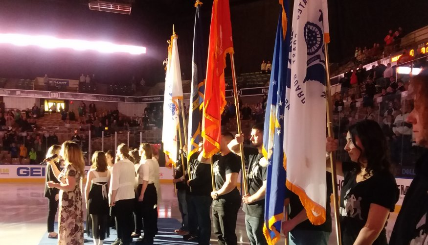 Quinsigamond Community College Veteran's Club Color Guard