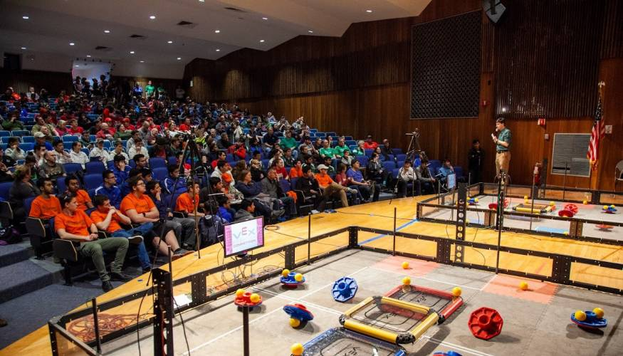 QCC has been host to many Vex robotics competitions.