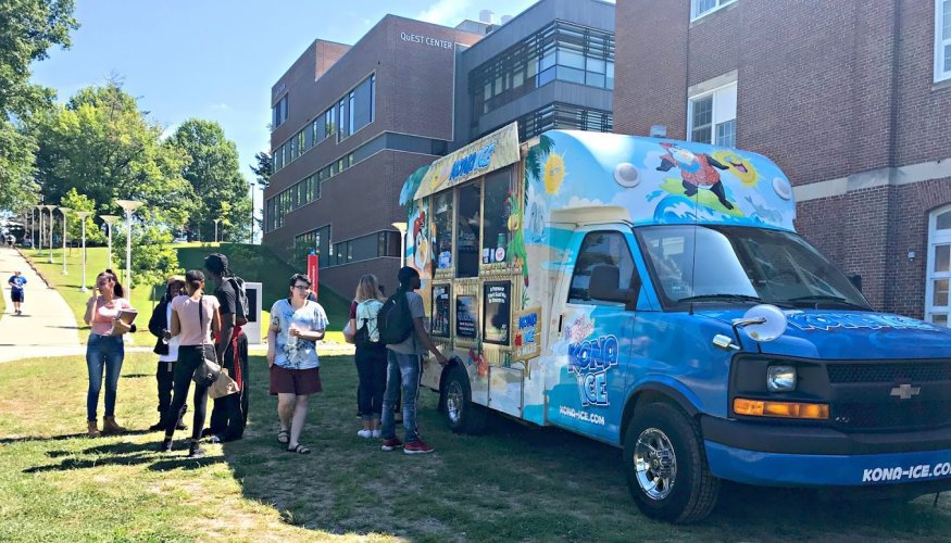 Free snow cones were one of the hits during the 2018 Fall Welcome Fair.
