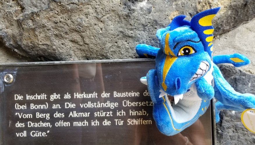 The Wyvern visited Kaiserpfalz Kaiserswerth, castle ruins found on the Rhine River in the oldest area of Dusseldorf.