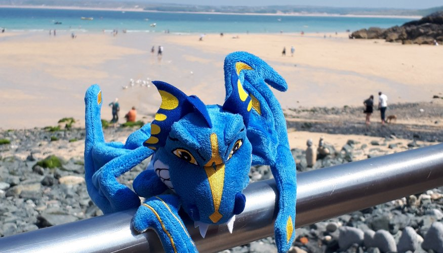 The Wyvern on his Cornish adventure.