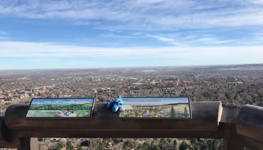 A perfect day in Boulder Colorado.