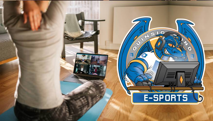 Zoom into the Spring Semester with QCC's E-Sports program, Zoom Yoga and Zumba.