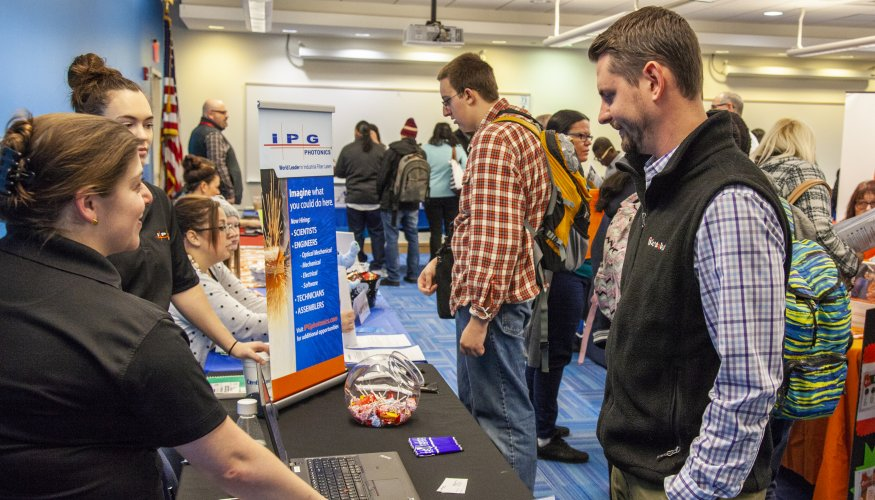 QCC students had the opportunity to meet with over 25 companies at the recent Job Fair.