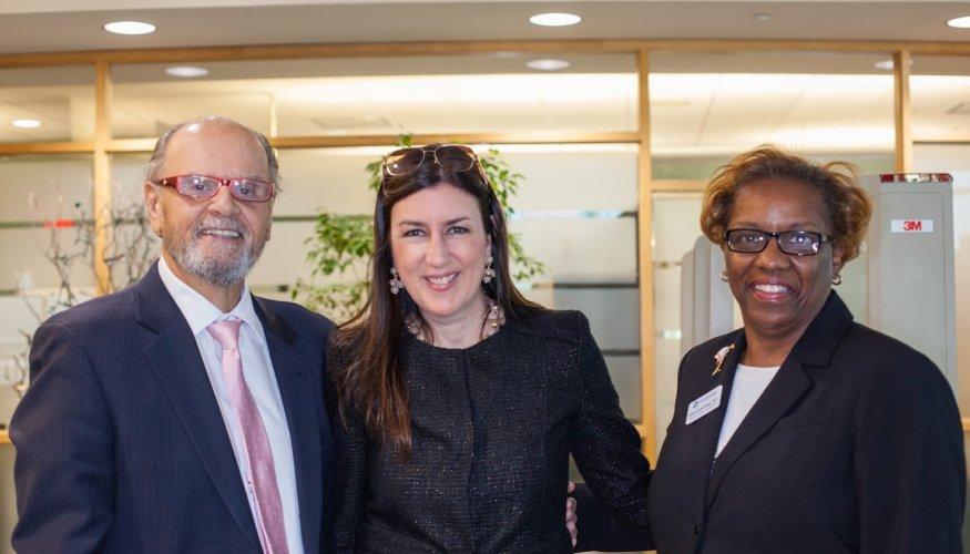 Legislators met with Karen Rucks, QCC's Executive Director of Advancement.
