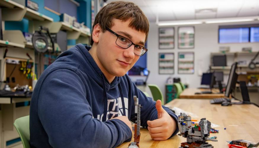 It was thumbs up for Worcester high school student Joseph Rajotte.