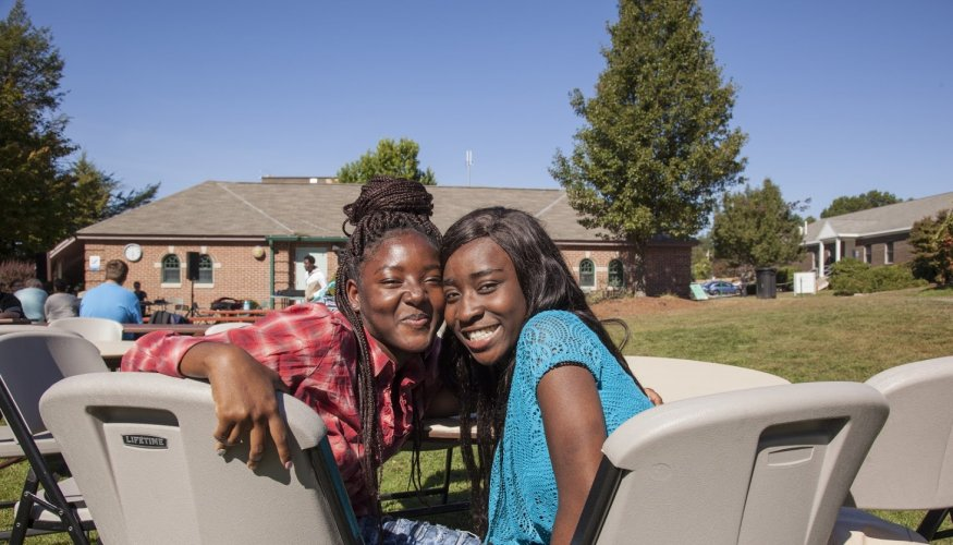 QCC students got a chance to mingle with friends at the PTK cookout.