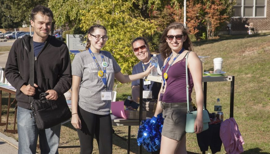 PTK Students helped with the raffles during last year's PTK Fall Cookout.