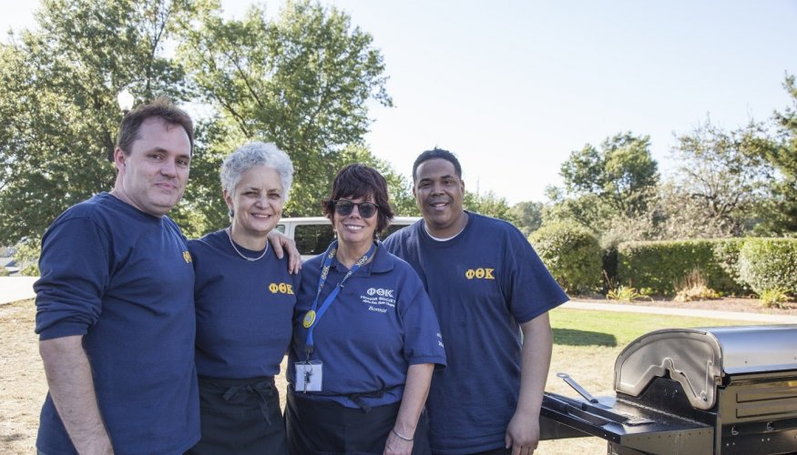 It was all hands on deck at the PTK cookout.